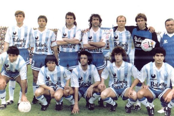 atletico rafaela 1992 Javier Berzero, Daniel Dalmazzo, Erasmo Doroni, Sánchez, Ariel Levrino y Carlos Goyén. Oddine, Mario Vera, Acosta, Díaz y Ovejero.